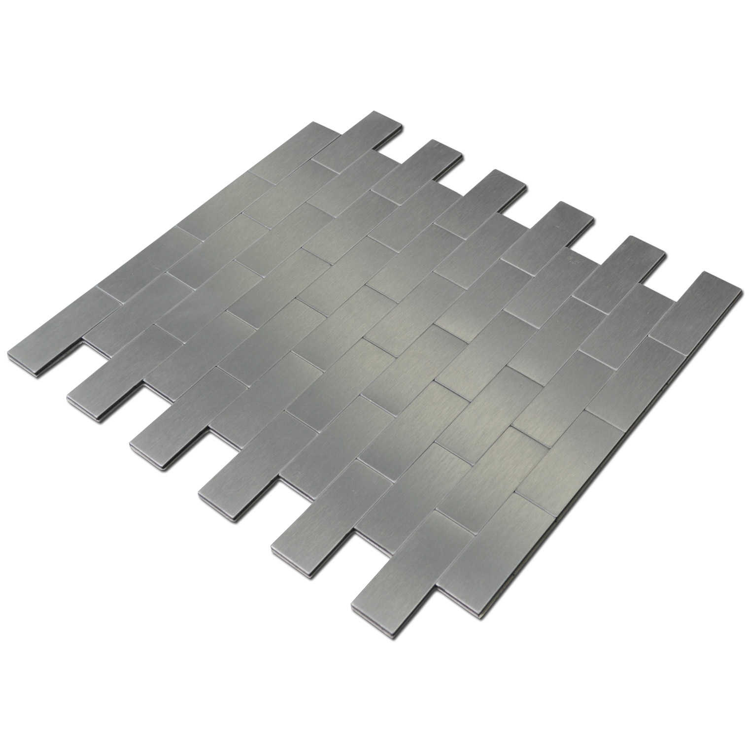 Peel and Stick Metal Backsplash Tile for Kitchen, 12' x 12' Silver(10 Pack)
