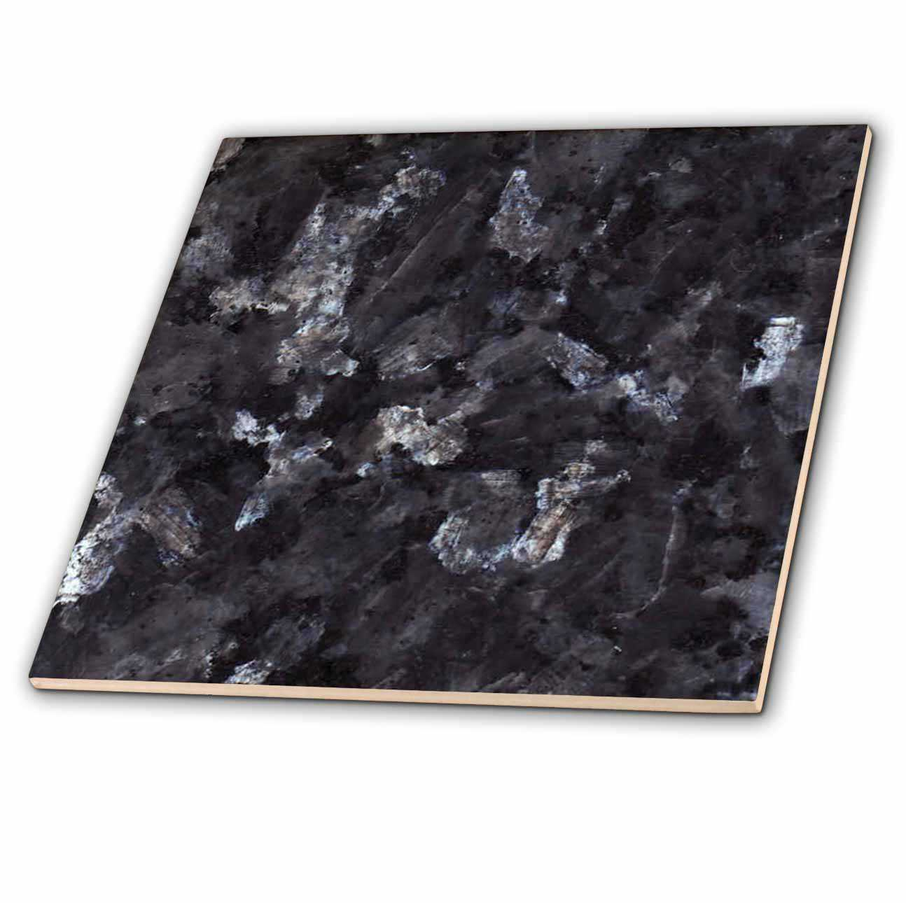 3dRose Blue Pearl granite print - Ceramic Tile, 6-inch