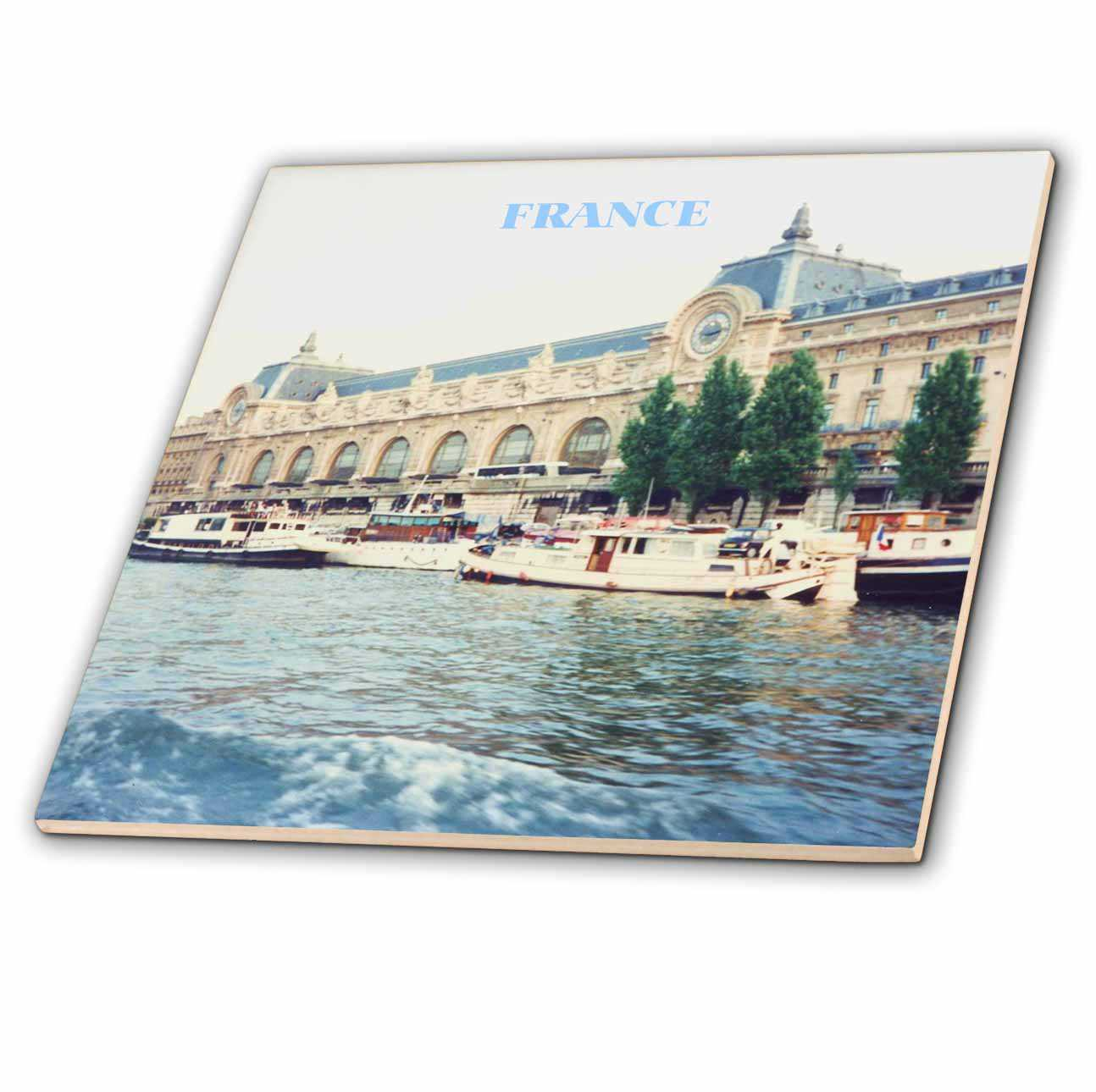 3dRose Seine River France - Ceramic Tile, 6-inch